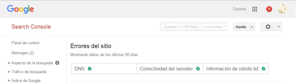 Google Webmaster Tools errores de rastreo