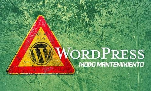 WordPress: error en el modo mantenimiento al actualizar plugins