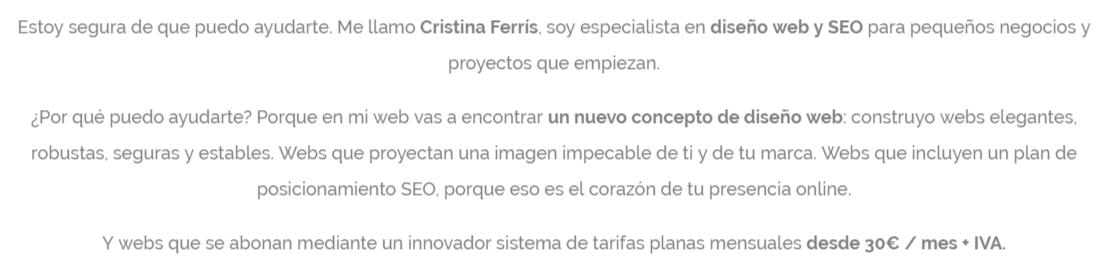 DISEÑO WEB SANTIAGO DE COMPOSTELA | CRSITINA FERRÍS, DISEÑADORA WEB